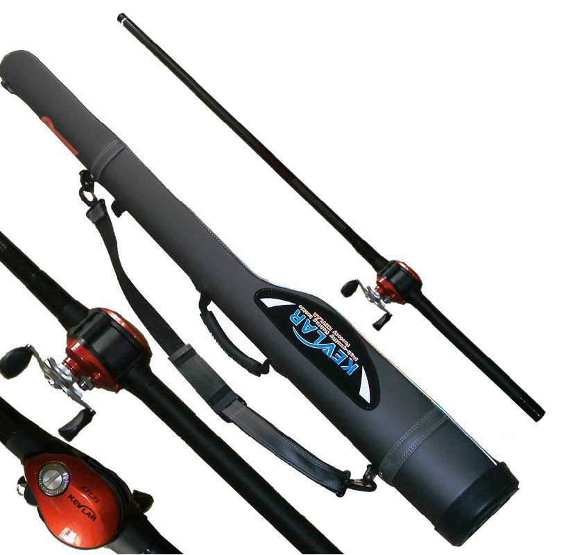6m kevlar through the pole wheel one piece pole package for Cheap fishing rods for sale