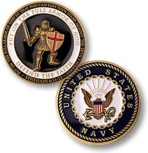 U.S. Navy / Armor of God - USN Gold Challenge Coin, 100pcs/lot DHL free shipping