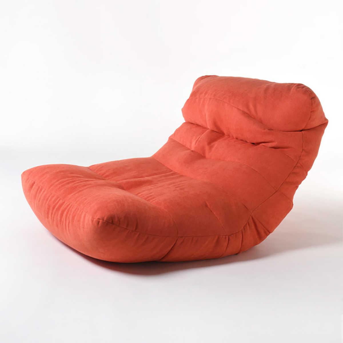 Keine Füllung Sitzsack Sofa Abdeckung Stühle Faul Bett Sitzsack Sofas Baumwolle Tuch Liege Sitz Hocker Puff Couch Tatami Hause zimmer Gelb