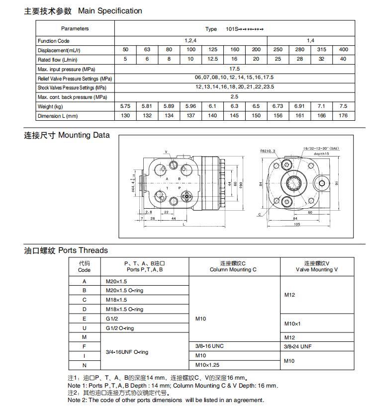 Orbitrol Hidráulico Dirección OSPC 160 ON Reemplazo DANFOSS