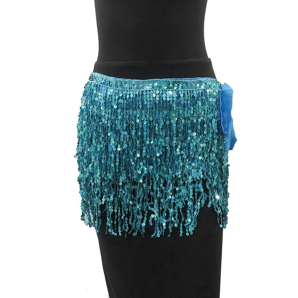 MUXU Золотая юбка с блестками женская юбка jupe faldas jupe femme falda уличная мини etek бахрома сексуальная летняя мода faldas cortas - Цвет: Lake blue