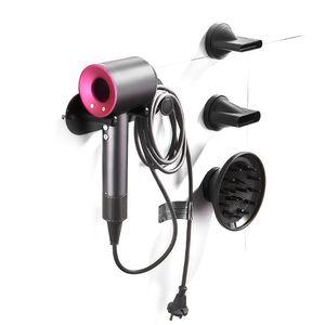 Image 3 - Wall Mount Holder Hairdryer Storgae Rack Bathroom Shelf For Dyson Supersonic Hair Dryer l29k