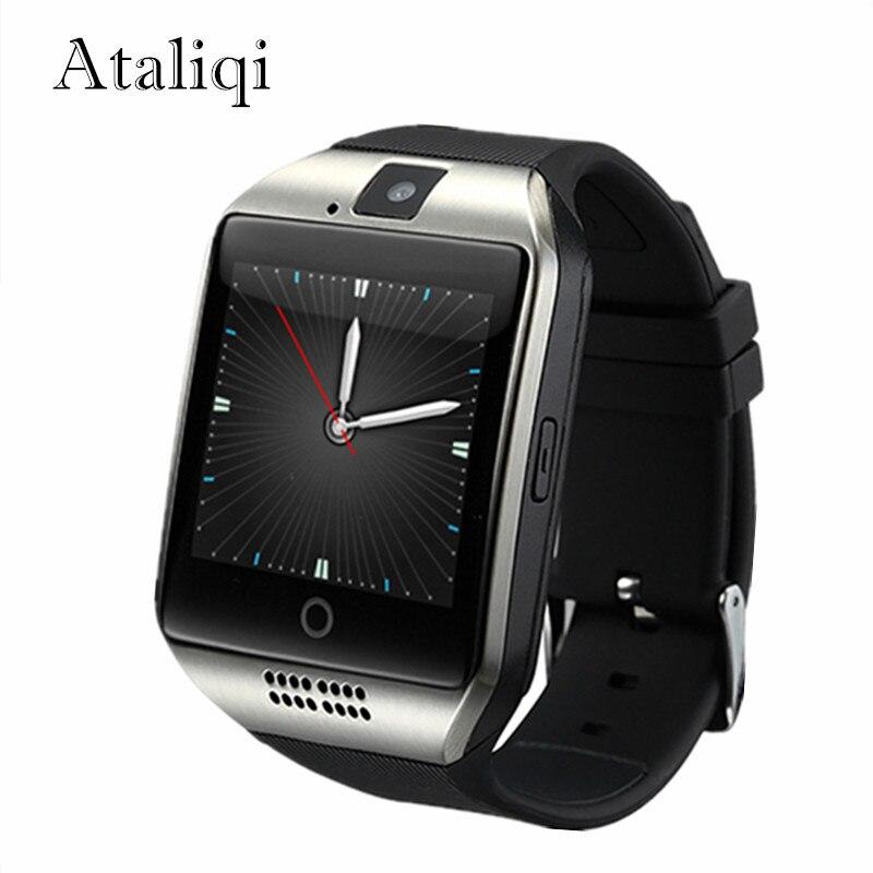 Ataliqi Q18 Smart Uhr Männer Unterstützung TF Sim Karte Push-Nachricht Antwort Anruf Fitness Tracker Bluetooth Smartwatch für Android-Handy