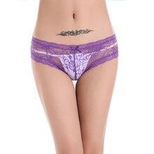 Sheer Lace underwear women briefs thongs 2016 Solid Silk Panties String Woman Underwear bragas sexy Women