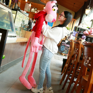 Image 2 - 1PC 55 150CM High Quality Big Size Baby Toys Plaything Cute Naughty Pink Panther Plush Stuffed Doll Toy Home Decor Kids Gift