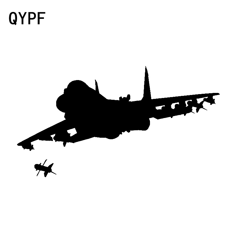 QYPF 17.1cm*9.4cm A Plane Fighter That Is Launching Missile Vinyl Car Sticker Decoration Decal Tidal C18-0651