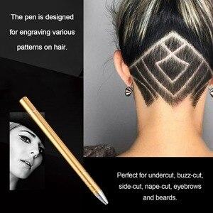 2018 professionnel Salon tondeuse cheveux gravure stylo outil de coiffure en acier inoxydable copeaux rasoir sourcils pince à épiler ensemble