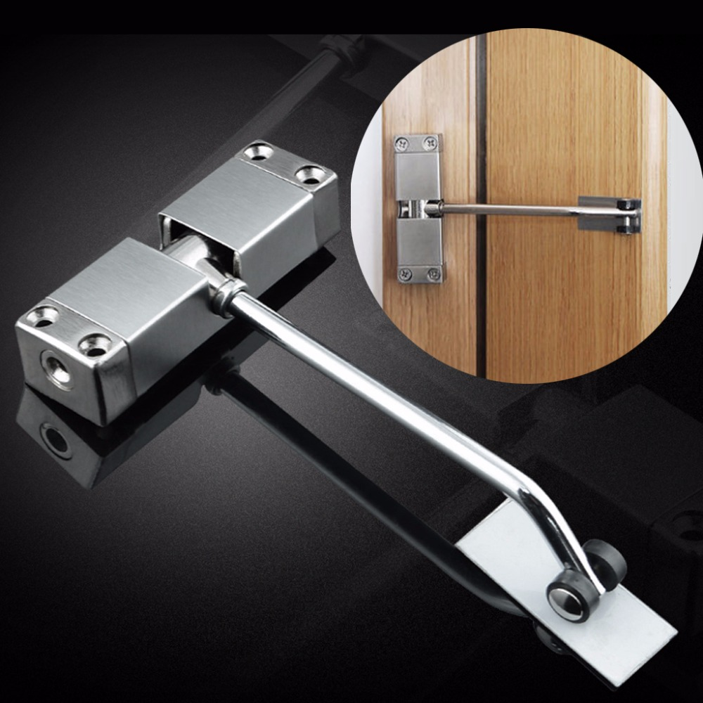 Auto Mounted Spring Door Closer Stainless Steel Adjust Surface Self Closing Door A04 19 DropshipAuto Mounted Spring Door Closer Stainless Steel Adjust Surface Self Closing Door A04 19 Dropship
