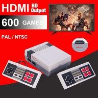 5 120 шт. HDMI вне ретро классические игры Семья ТВ игровая консоль встроенный 600 игры с 2 игровые PAL и NTSC hdmi выход