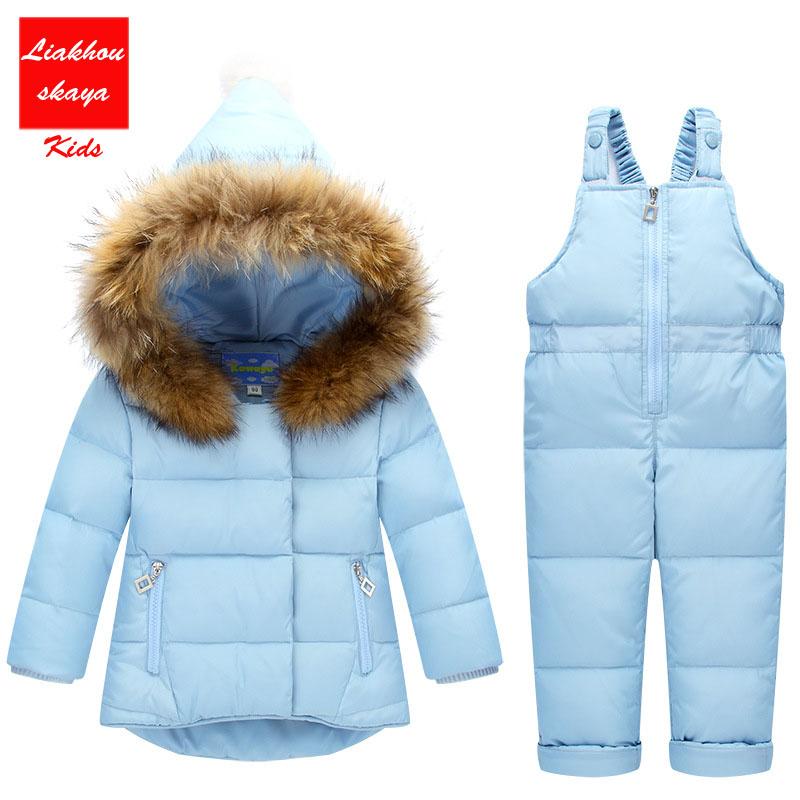 2017 Kids Clothes Autumn Winter Down Jackets For Girls Cartoon Dots Warm Coats Snowsuits Children Outerwear Overalls Jumpsuits