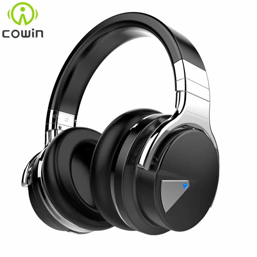Prix pour Cowin e-7 annulation active du bruit bluetooth casque sans fil stéréo casque deep bass casque avec microphone/pour téléphone