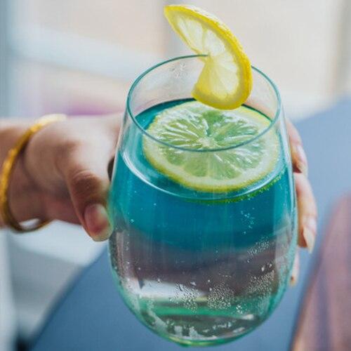 Скандинавский стиль прозрачная креативная термостойкая стеклянная чашка домашний молочный мусс сок чашка для завтрака кофейная чашка напиток украшение чашка - Color: LARGE