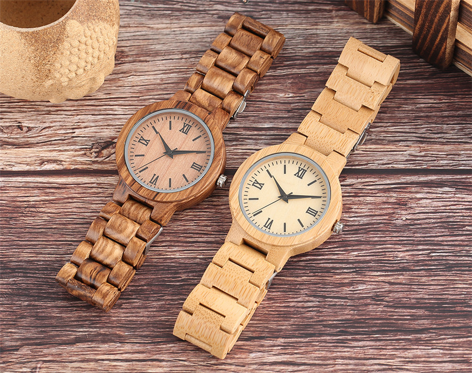 YISUYA Minimalist Full Wooden Watches Women Men Bamboo Wood Bracelet Fashion Creative Quartz Wristwatch Handmade Gifts Casual Clock Hour (1)