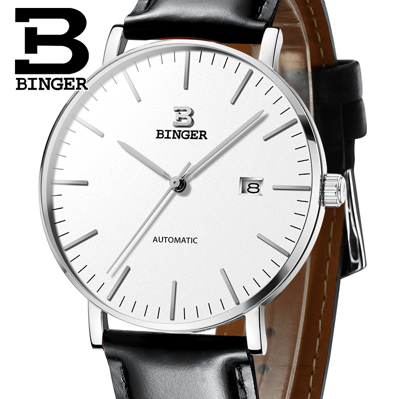 Switzerland BINGER Mens Watches Luxury Brand automatic mechanical Men Watch Sapphire Male Japan Movement reloj hombre B-5081M-13 switzerland binger watch men 2017 luxury brand automatic mechanical men s watches sapphire wristwatch male reloj hombre b1176g 2