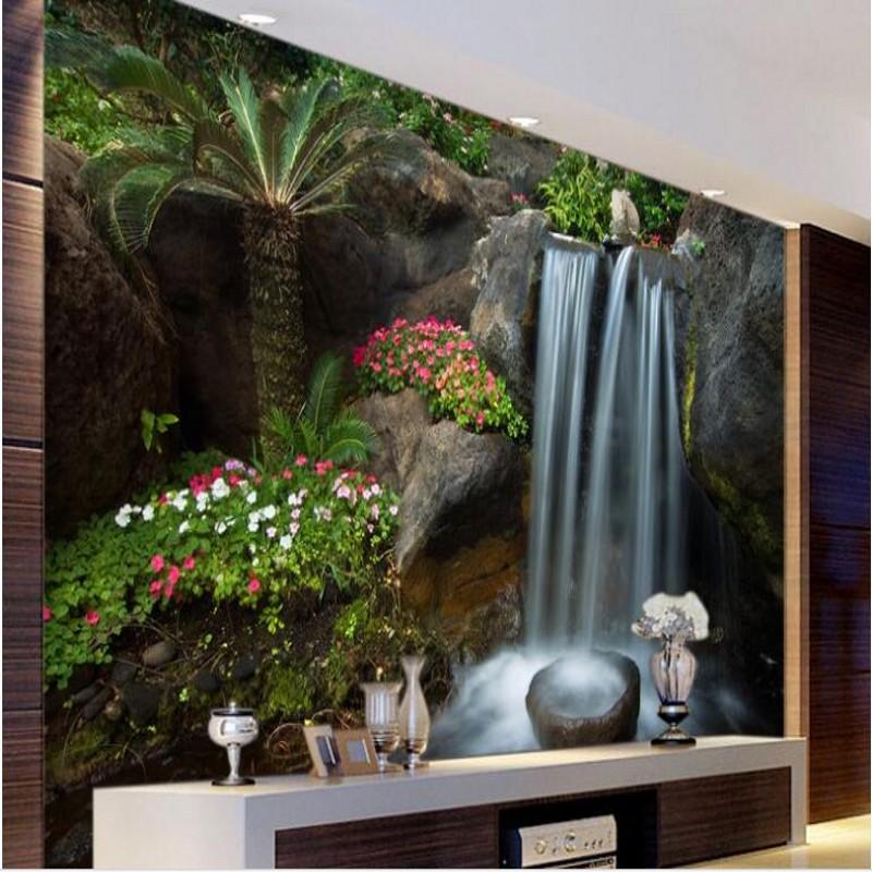 beibehang murales a gran escala cornucopia cascada agua salud financiera rocalla jardn pintado pared papel