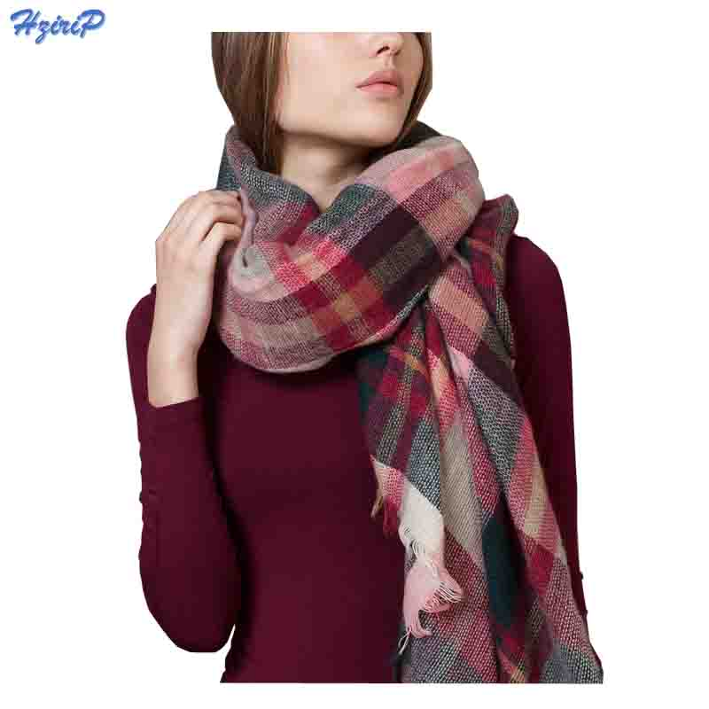 Fashion Winter Warm British Grid Lattice Acrylic Cashmere font b Tartan b font Plaid Scarf Brand