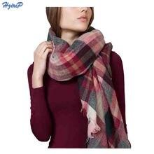 Fashion Winter Warm British Grid Lattice Acrylic Cashmere font b Tartan b font Plaid Scarf Brand