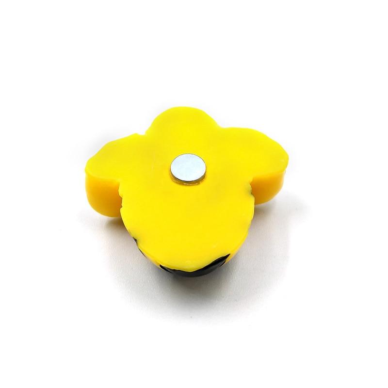 6pcs Yellow Bee Fridge Magnet Cartoon Animal Whiteboard Sticker Resin Refrigerator Magnets Child Home DIY Decoration Accessories