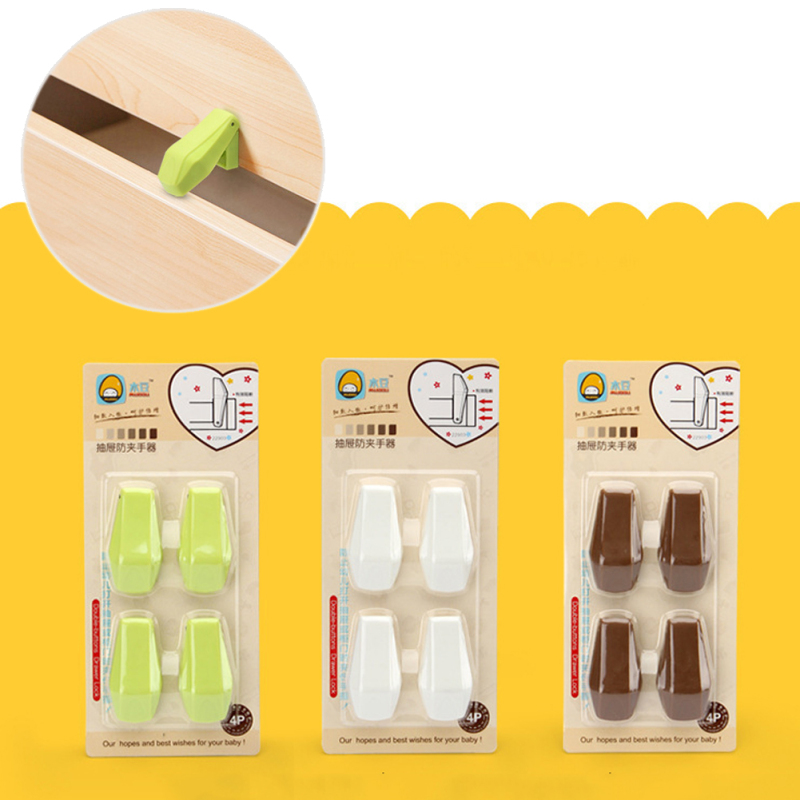 4pcs/Bag Cabinet locks mom safety lock baby safety lock refrigerator drawer child close aides Home Baby safety Tools  5