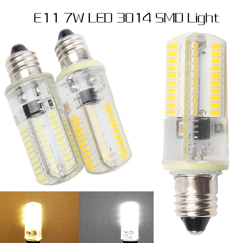 dimmable 3014smd e11 led lamp light bulb 7w 80leds ac110v 220v warm whitewhite high