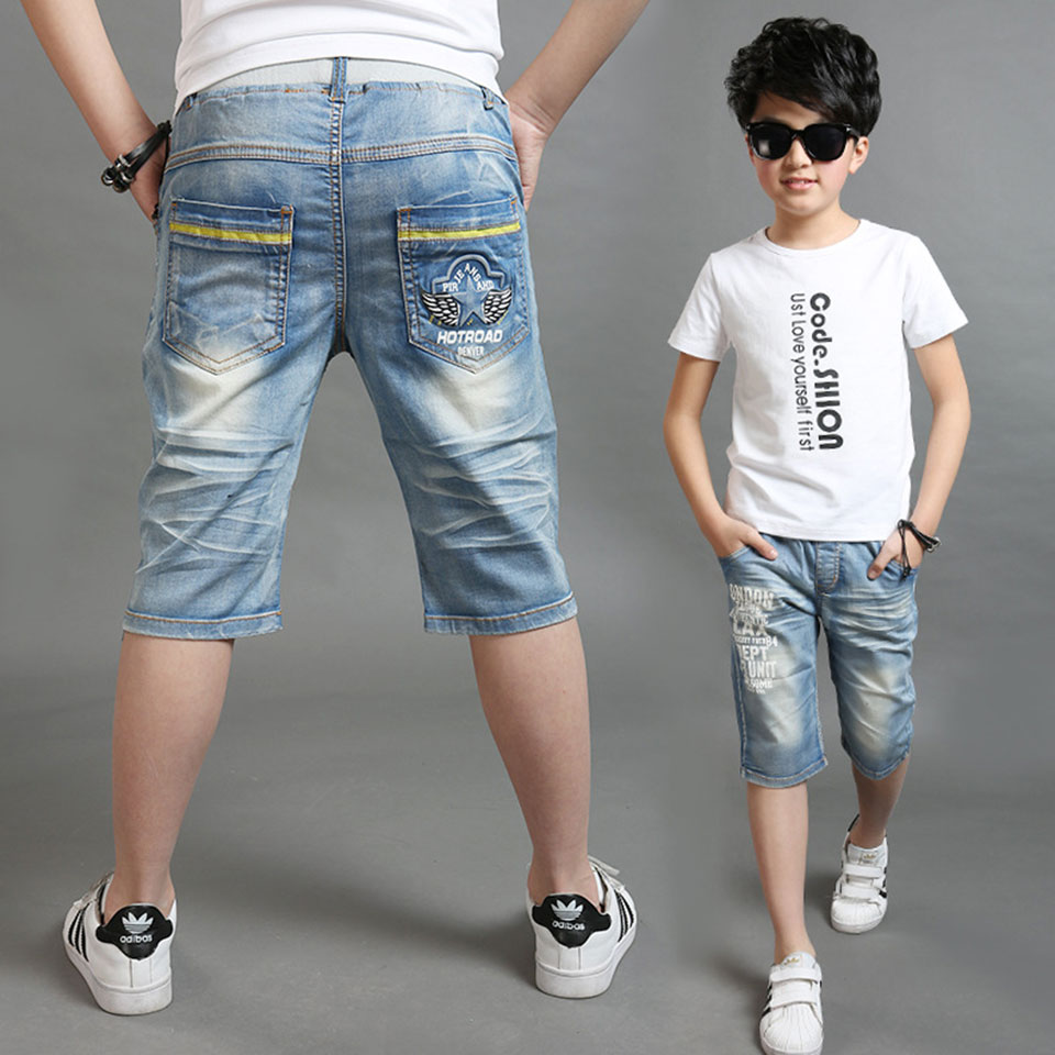 New Boys Casual   Short   Pants Letter Elastic Waist   Shorts   For Boys Clothing Summer Kids Boys Trousers For 4 6 8 10 12 14 Years