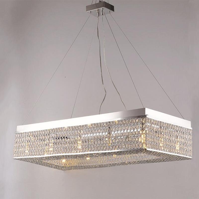 Jmmxiuz New Rectangular Pendant Lights Modern Lamp Ac110v: Jmmxiuz Modern Minimalist Rectangular Crystal Ceiling Lamp