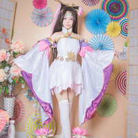 Game Glory of the king Costume Mage Master Magician Diao Chan Cosplay Purple Pink Fancy Dress Girls Halloween Outfit