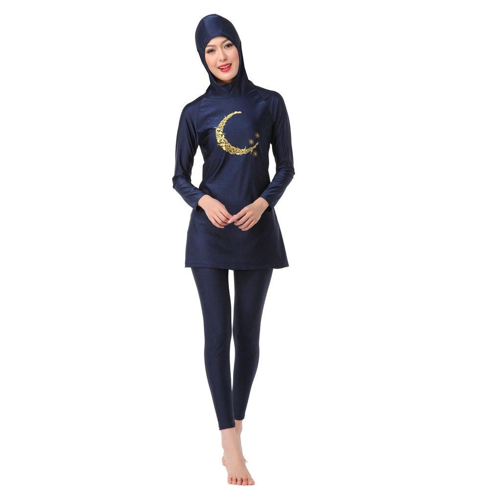 Signore Della Copertura Completa Musulmano Con Cappuccio Costumi Da Bagno  Islamico Delle Donne Costumi Da Bagno Nuoto Surf Abiti Arabo Islam Hijab  Lunghe ... f51fd01000d2