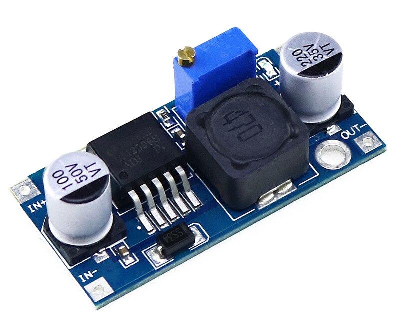 Регулируемый модуль регулятора постоянного тока LM2596 LM2596S, понижающий модуль питания постоянного тока, 3 А, вход 4-35 в, выход 1,23-30 В, 1 шт.