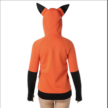 Fox Sweatshirt Women Hoodies Long Sleeve Cosplay costume Rabbit Ear Hooded Sweatshirts Female Lady Autumn Hoodie Jacket Coat