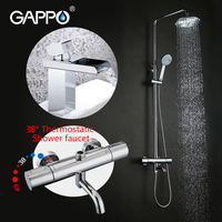 GAPPO Shower Faucet Thermostatic Rainfall Shower Mixer Taps Bathroom Waterfall Basin Sink Mixer Taps Thermostatische