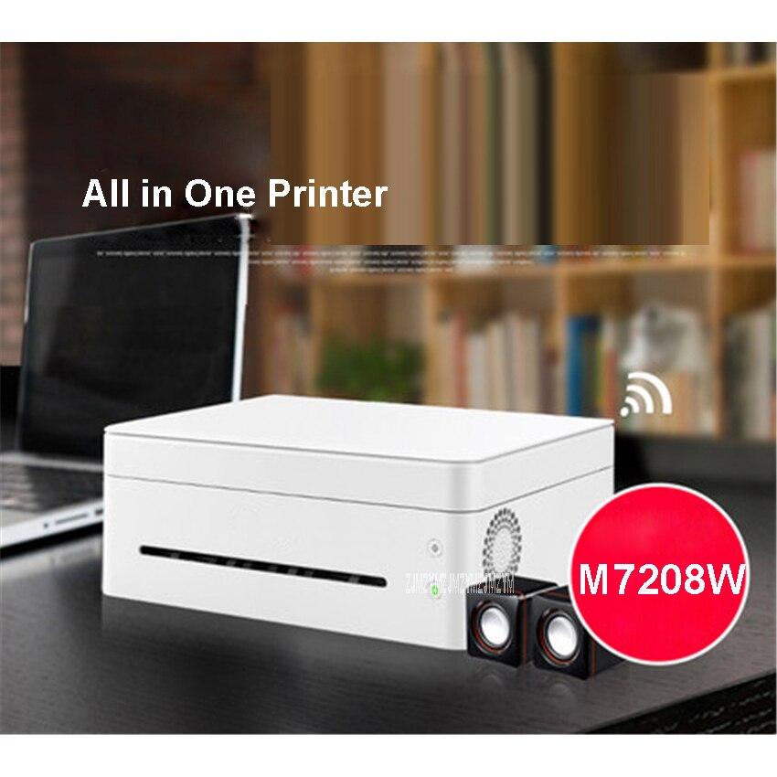 Черно белый лазерный принтер, одна машина, копировальная, беспроводная, Wi Fi, для дома, маленького офиса, скорость печати 22 страницы/минуты, 220 В, M7208W