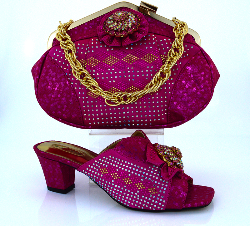 ФОТО 2016 New Fashion Italian Shoes With Matching Bag Set African Style Women Shoes and Handbag Set For Party Free Shipping!!HVB1-42