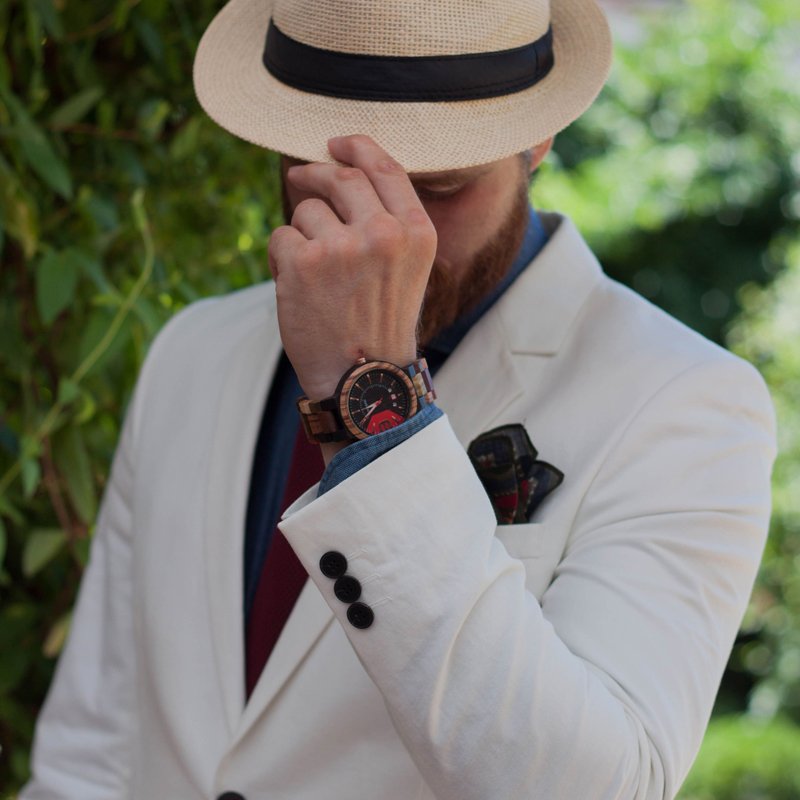Image 2 - BOBO BIRD Relogio Masculino Wooden Watch Men Luxury Date Display Wood Japanese Quartz Watches Mens Great Gift erkek kol saatiQuartz Watches   -