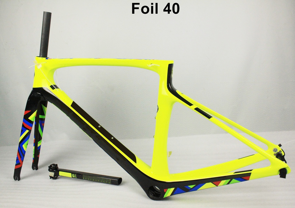 Top selling carbon bike frame T1000 Foil route carbon fiber bicycle frame with many design