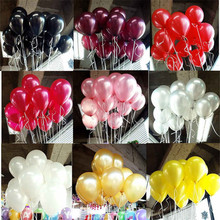 Black Latex Balloons 10pcs/lot 1.8g Latex Helium Balloon Inflatable Wedding Decorations Air Balls Happy Birthday Party Balloons