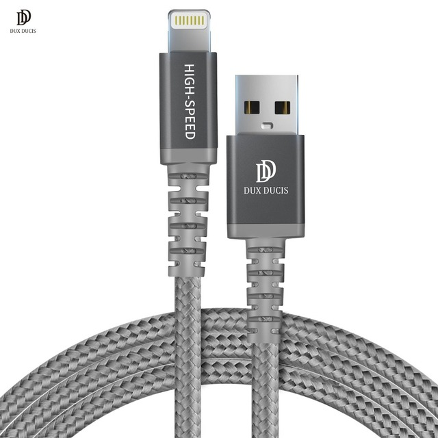 low priced 1762f 28569 US $9.99 30% OFF DUX DUCIS MFi USB Cable for iPhone 8 X 7 6S Plus 2.4A Fast  Charging Lightning Cable for iPhone 6 USB Cable Phone Charger Cable-in ...