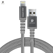 DUX DUCIS MFi USB Cable for iPhone 8 X 7 6S Plus 2.4A Fast Charging Lightning Cable for iPhone 6 USB Cable Phone Charger Cable
