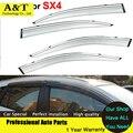 car styling Sun Rain Shield Covers Windows Visors For Suzuki SX4 2014 2015 Car Stylingg Awnings Shelters Stickers Smoke