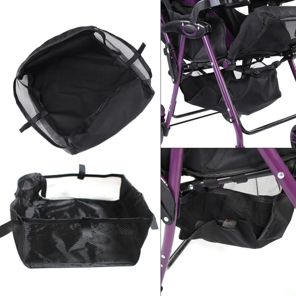 Baby Stroller Basket Baby Pram Pushchair Bottom Hanging Basket Basket Pram Bottom Organizer Bag Mesh Netting Accessories Organizer