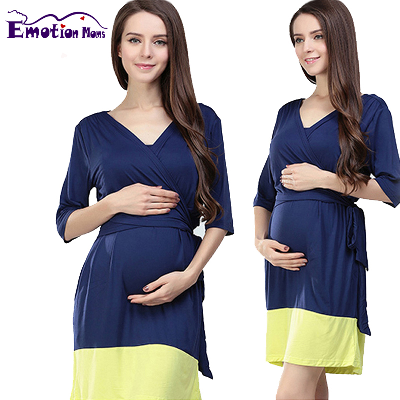 1cee2c70a42ae Emotion Moms Fashion Maternity Clothes Modal maternity dresses  Breastfeeding clothes for Pregnant Women Nursing pregnant dress-in Dresses  from Mother & Kids