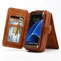BRG многофункциональный Кожаный Чехол для Samsung Galaxy S7 Edge Случае 2 in1 Съемный На Молнии держателя Карты Бумажник Случае для Galaxy S7 Edge