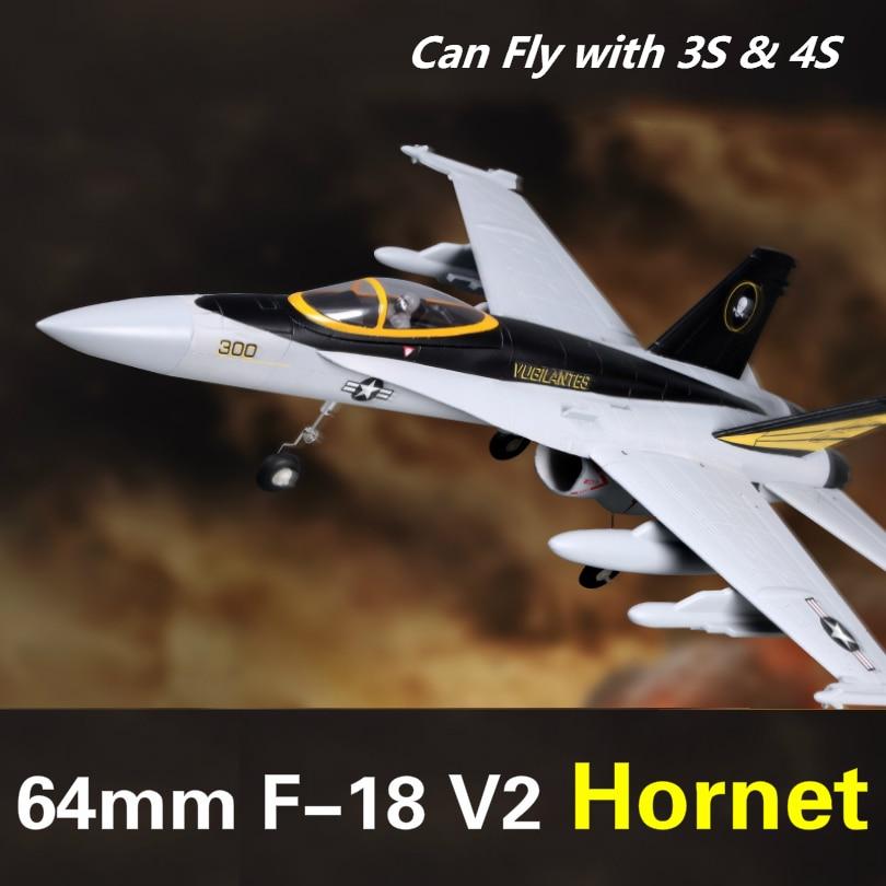 FMS 64mm F18 F 18 V2 Vigilantes Ducted Fan EDF Jet Grey Scale RC Airplane Modern