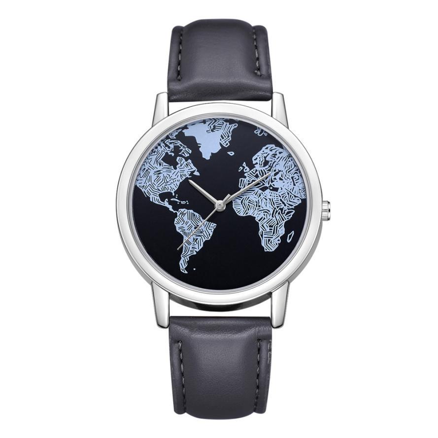 Women's Luxury Watch world map...