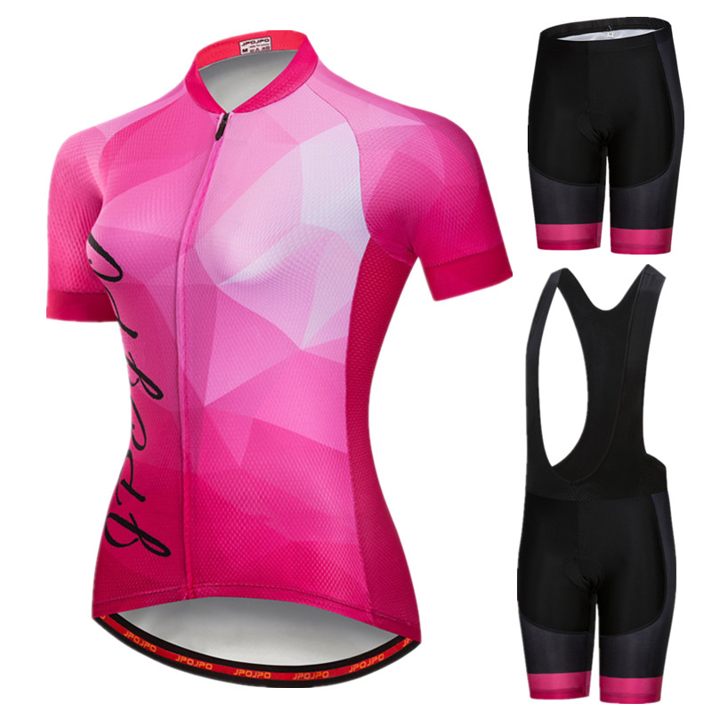 JPOJPO Summer Cycling Jersey Set 2019 Bike Team Cycling Clothing Women Quick Dry Uniform Bicycle Jersey Suit ropa ciclismo mujer