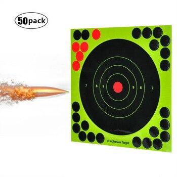50 Pack 8 zoll schießen aufkleber Ziel Rollenwechsler Selbst Adhesive Aufkleber Jagd und schießen ziel Punkte aufkleber Gun Gewehre