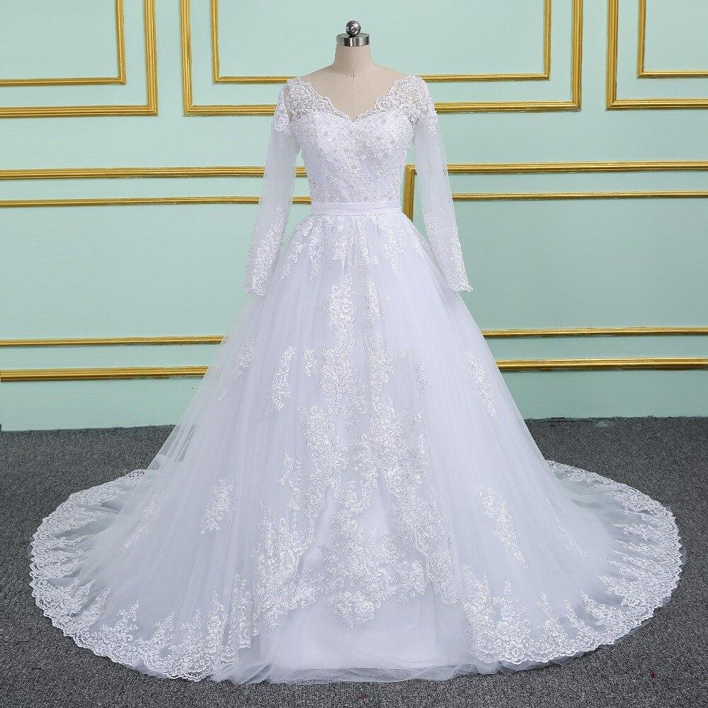 Vinca sunny robe de mariee V cuello vestidos de novia Apliques de ...