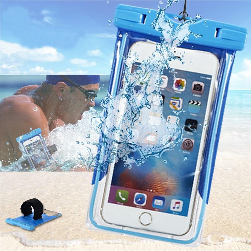 Vodotěsné pouzdro pro mobilní telefon Xiami mi6 Redmi 4x note 4x Taška na podvodní pouzdro Hang Suché tašky pro Xiaomi mi 6 Redmi 4x