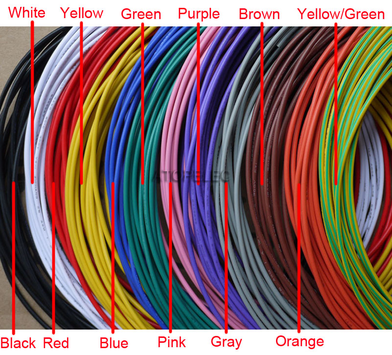 1m 16awg Od 2 4mm Ul1007 Pvc Tinned Copper Stranded Wire