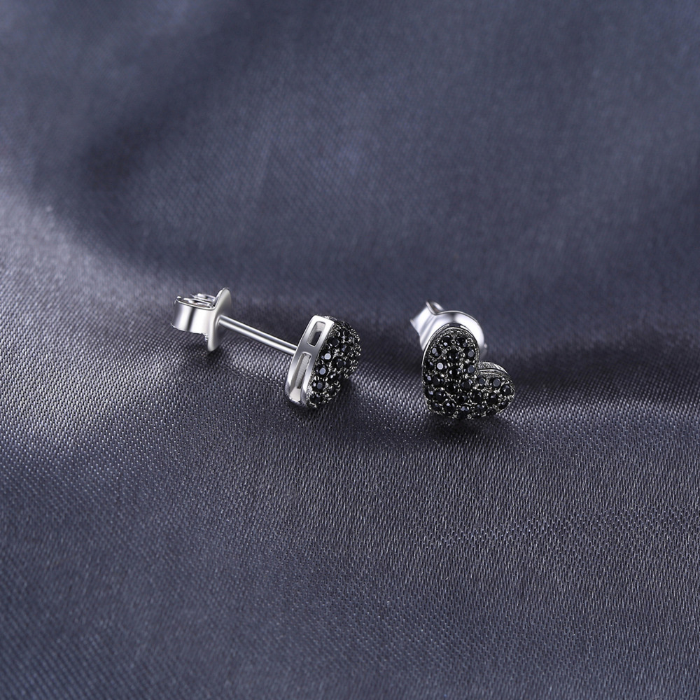 JewelryPalace Fashion 0.29ct natuurlijke zwarte Spinel Love Heart - Fijne sieraden - Foto 2